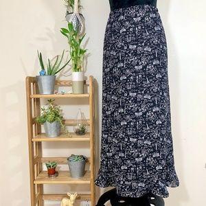 CJ Banks Paris pattern maxi skirt plus size